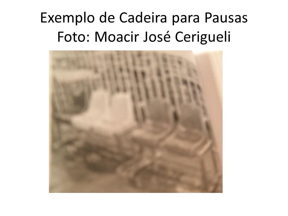 Exemplo de Cadeira para Pausas Foto: Moacir José Cerigueli