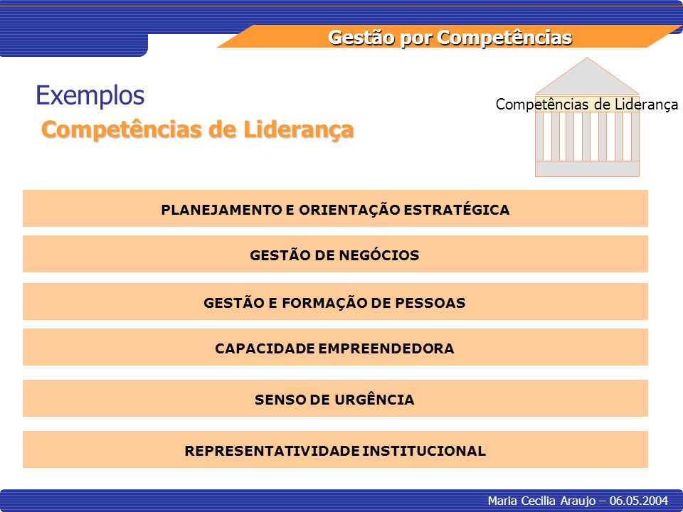 Exemplos Competências de Liderança Competências de Liderança
