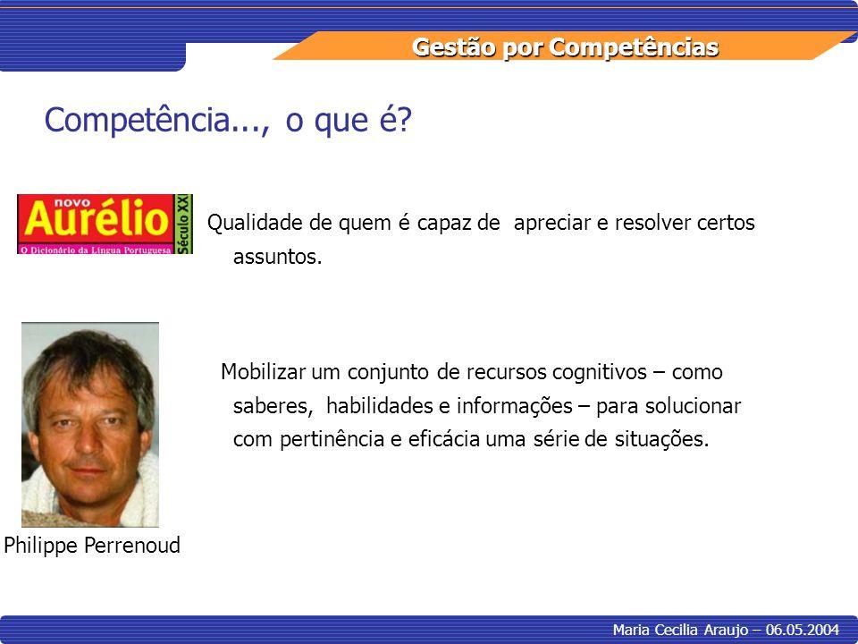 Competência..., o que é Qualidade de quem é capaz de apreciar e resolver certos assuntos.