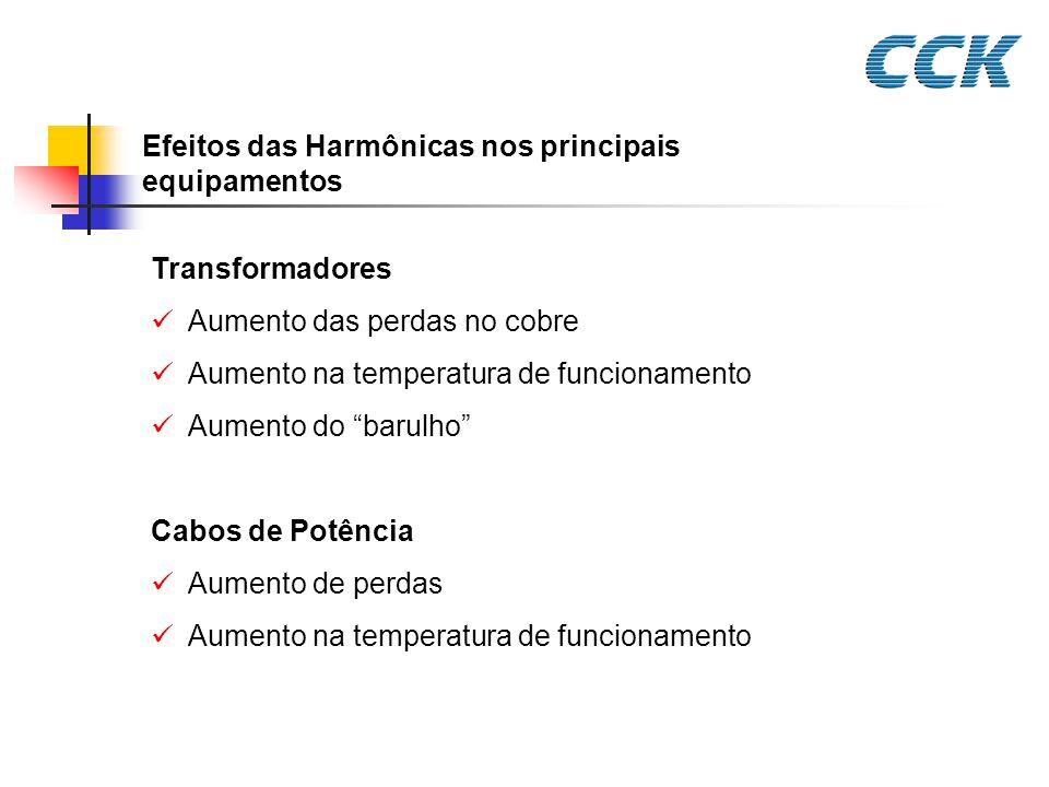 Efeitos das Harmônicas nos principais equipamentos