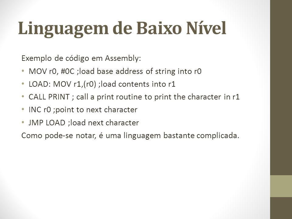 Linguagem de Baixo Nível