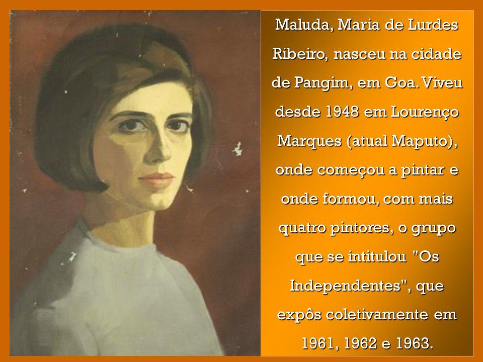 Maluda, Maria de Lurdes Ribeiro, nasceu na cidade de Pangim, em Goa