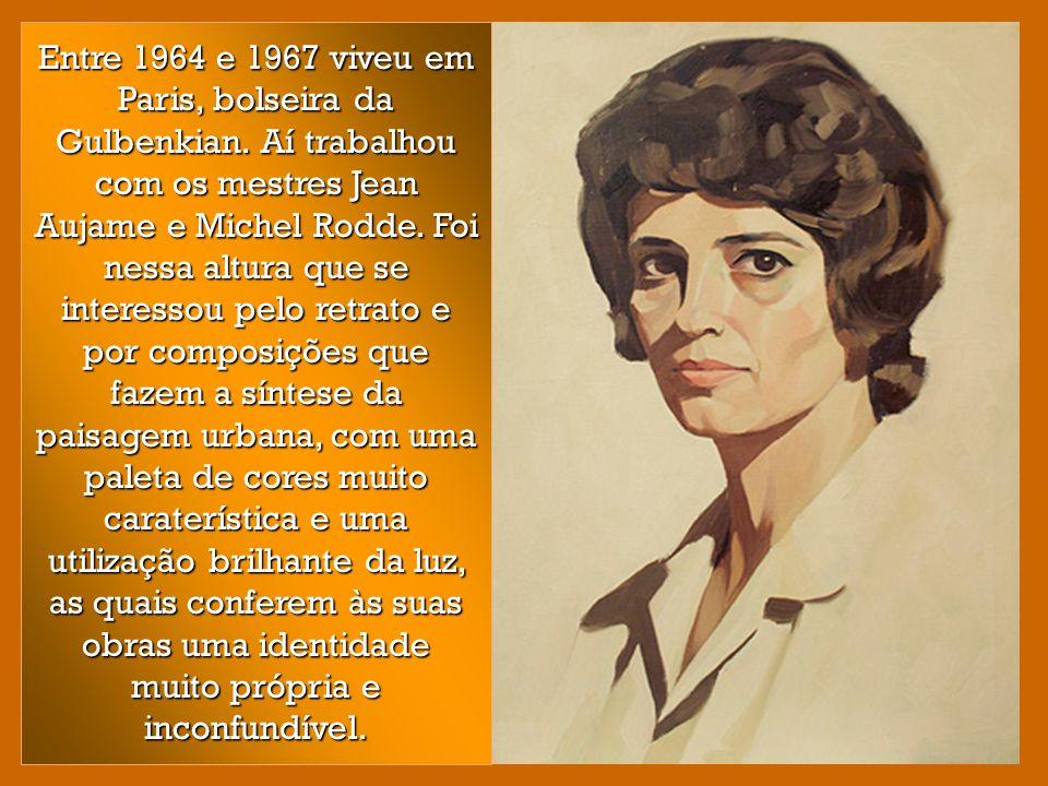 Entre 1964 e 1967 viveu em Paris, bolseira da Gulbenkian
