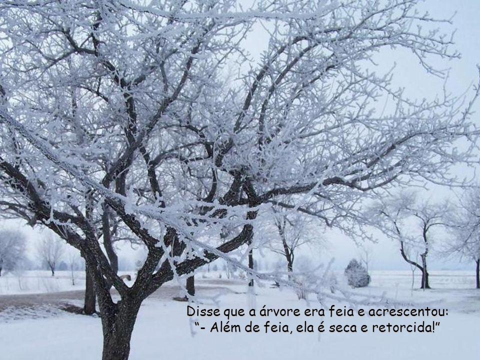Disse que a árvore era feia e acrescentou: