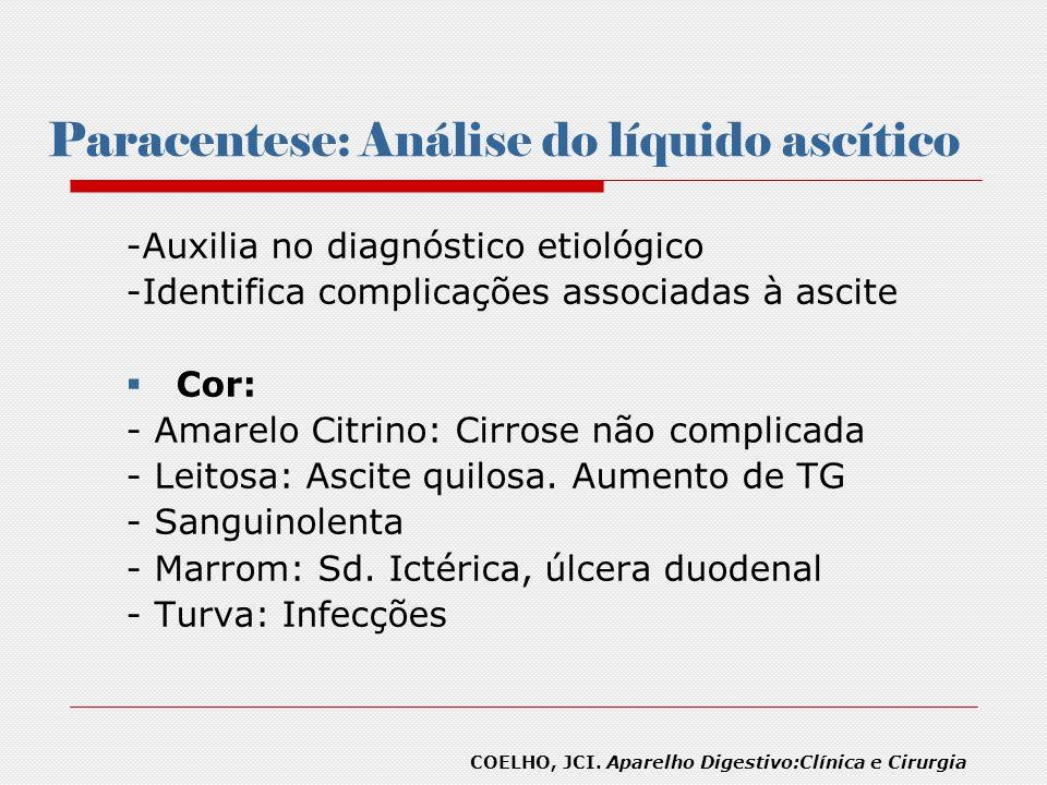 Paracentese: Análise do líquido ascítico