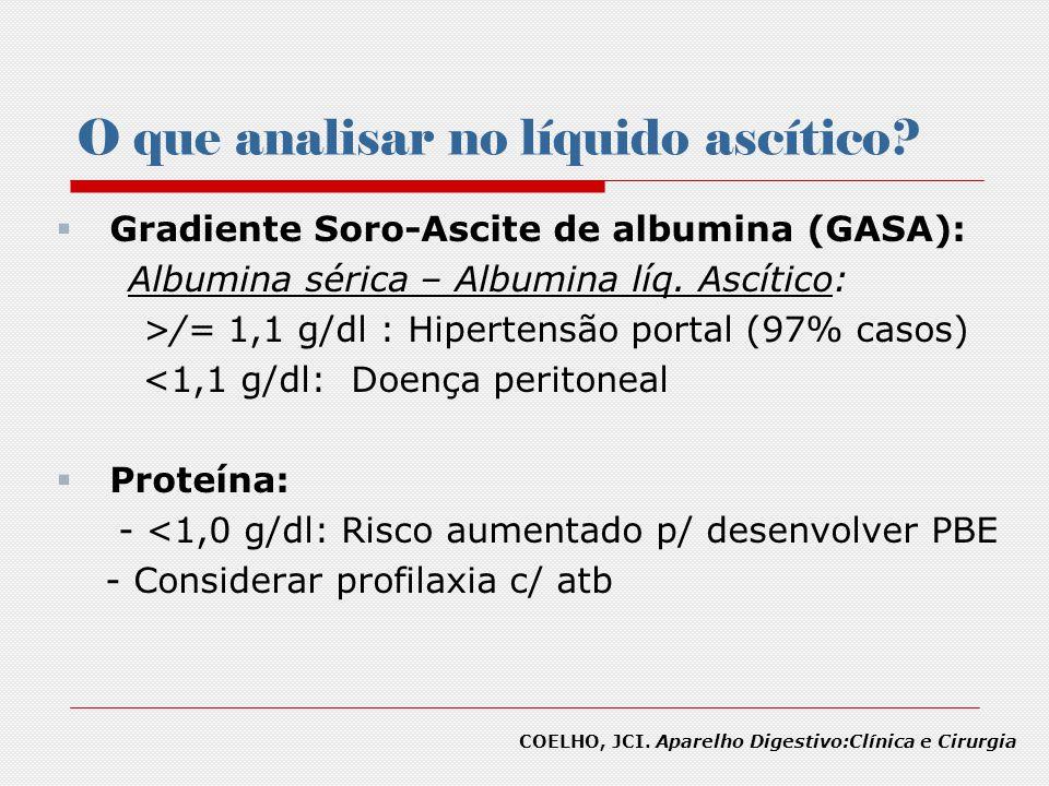 O que analisar no líquido ascítico