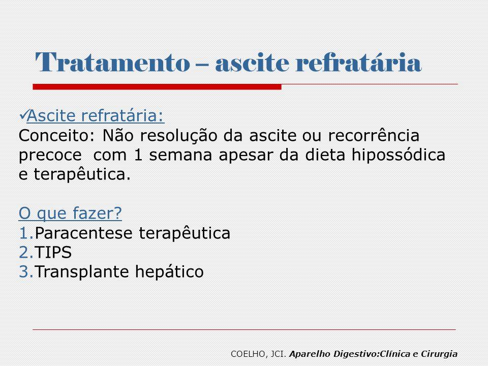 Tratamento – ascite refratária