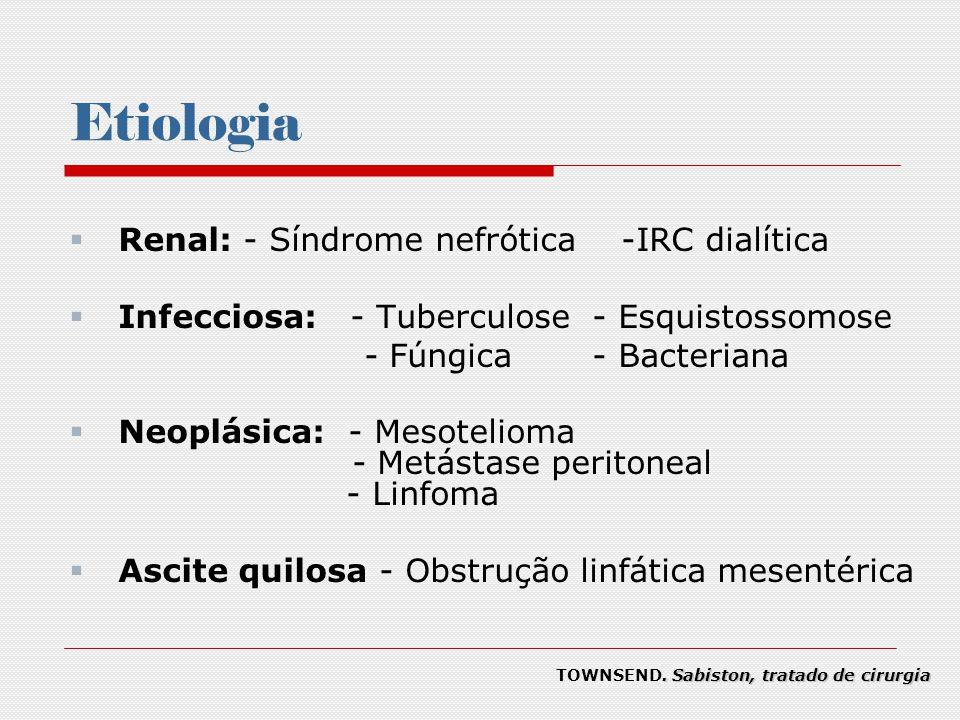 Etiologia Renal: - Síndrome nefrótica -IRC dialítica