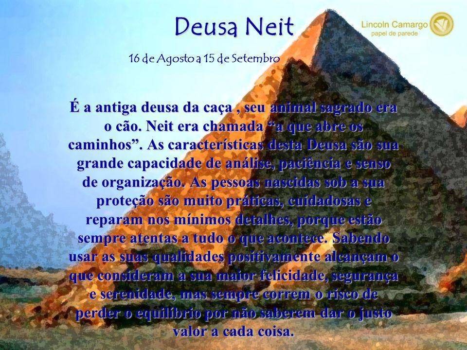 Deusa Neit É a antiga deusa da caça , seu animal sagrado era