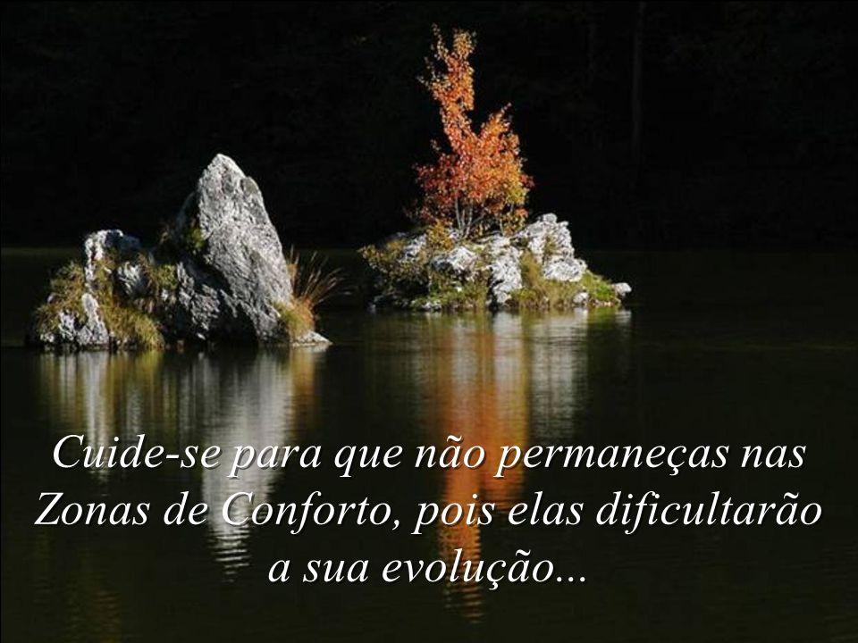 Cuide-se para que não permaneças nas Zonas de Conforto, pois elas dificultarão a sua evolução...