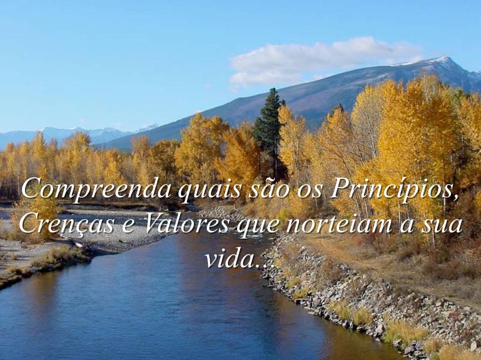 Compreenda quais são os Princípios, Crenças e Valores que norteiam a sua vida...