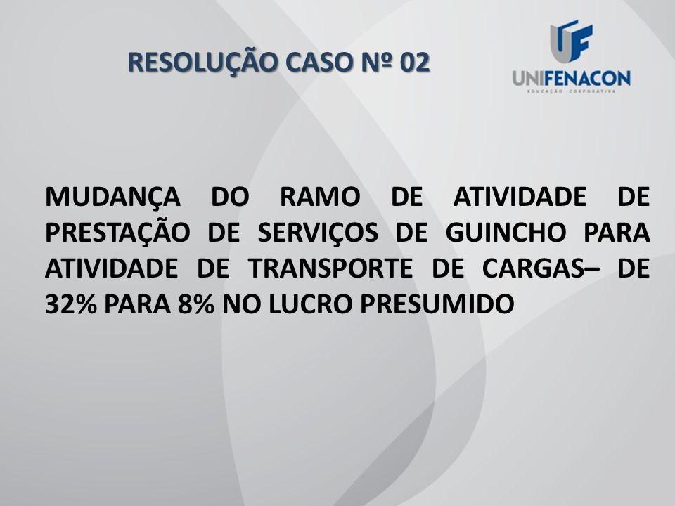 RESOLUÇÃO CASO Nº 02