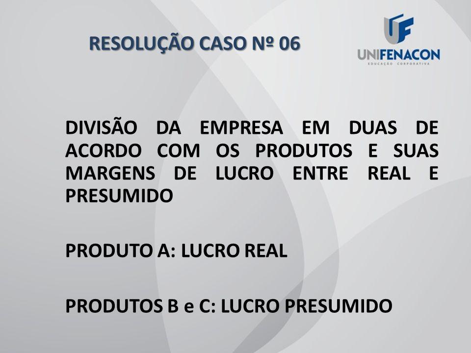 RESOLUÇÃO CASO Nº 06