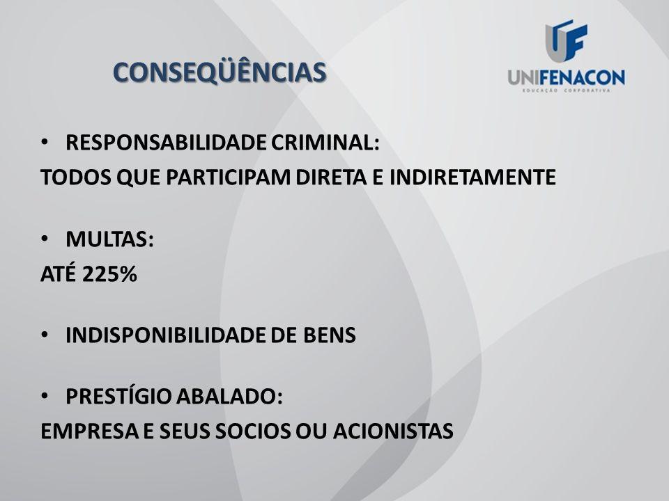 CONSEQÜÊNCIAS RESPONSABILIDADE CRIMINAL: