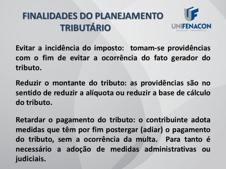 FINALIDADES DO PLANEJAMENTO TRIBUTÁRIO