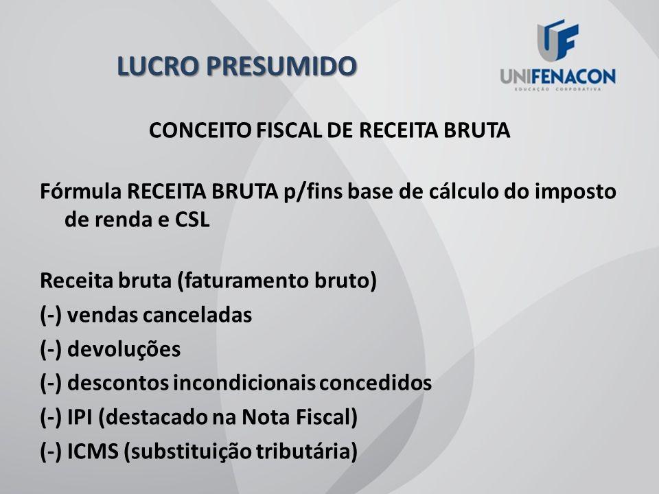 CONCEITO FISCAL DE RECEITA BRUTA