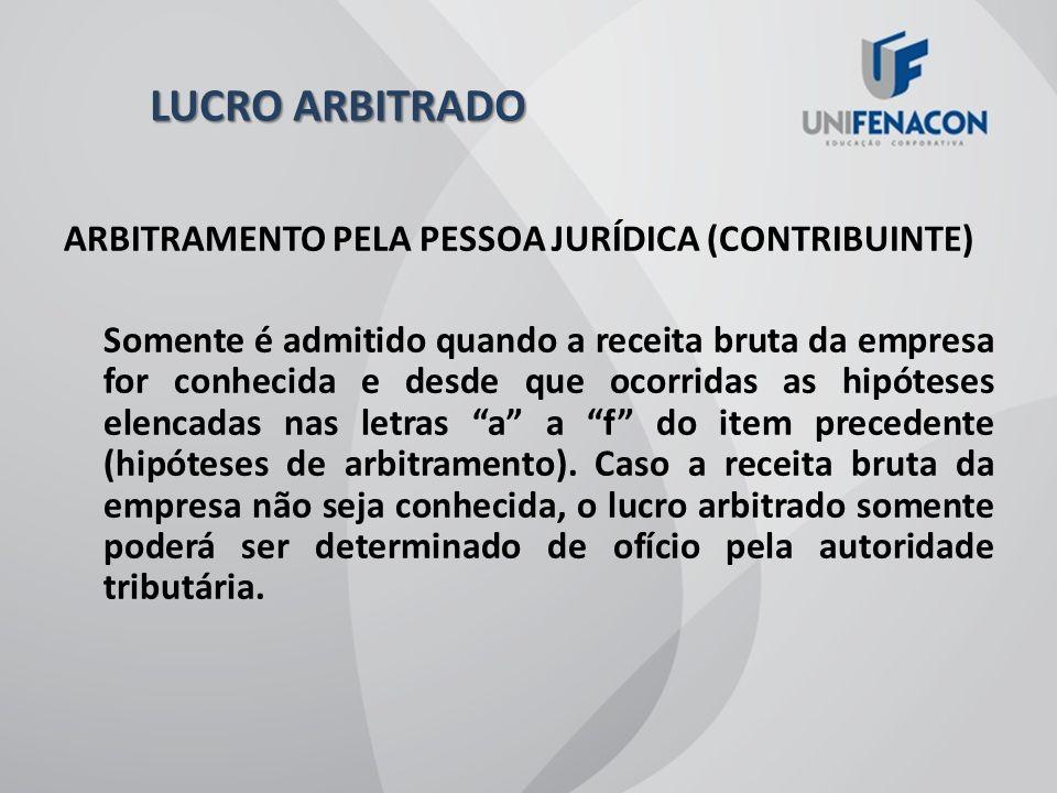 LUCRO ARBITRADO