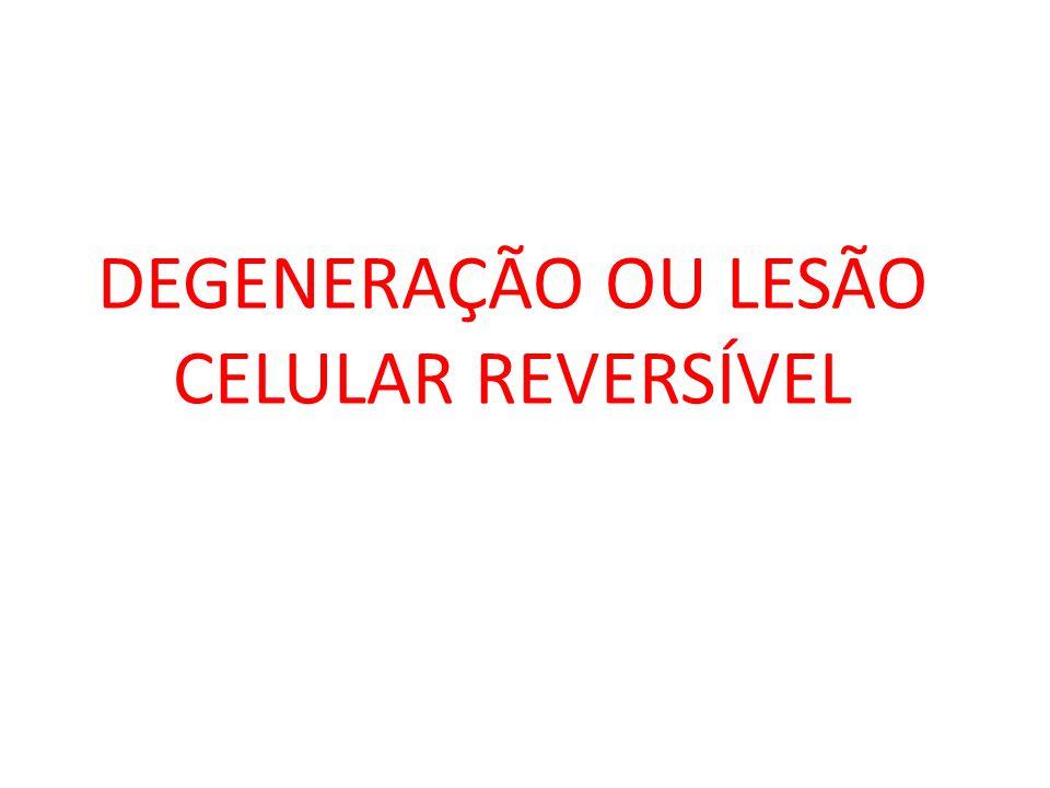 DEGENERAÇÃO OU LESÃO CELULAR REVERSÍVEL