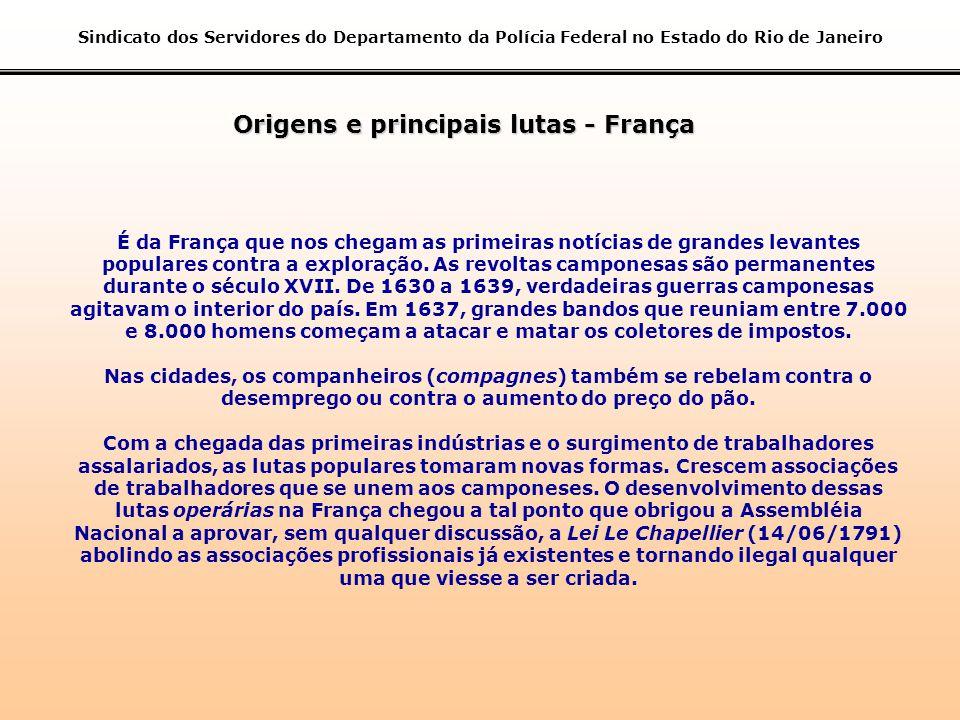 Origens e principais lutas - França