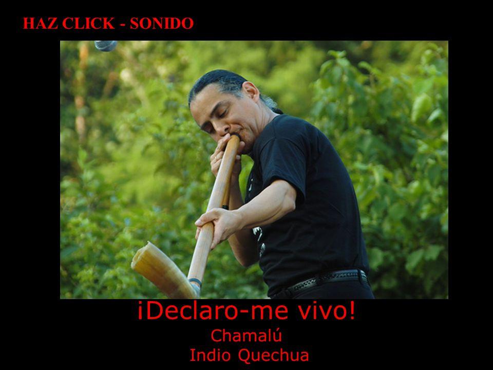HAZ CLICK - SONIDO ¡Declaro-me vivo! Chamalú Indio Quechua