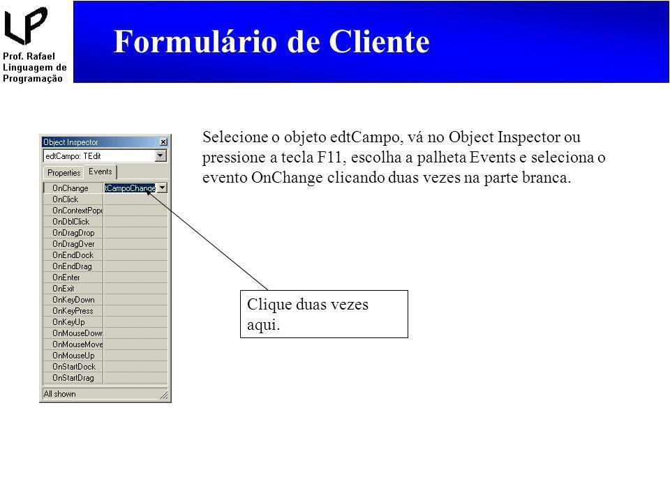 Formulário de Cliente