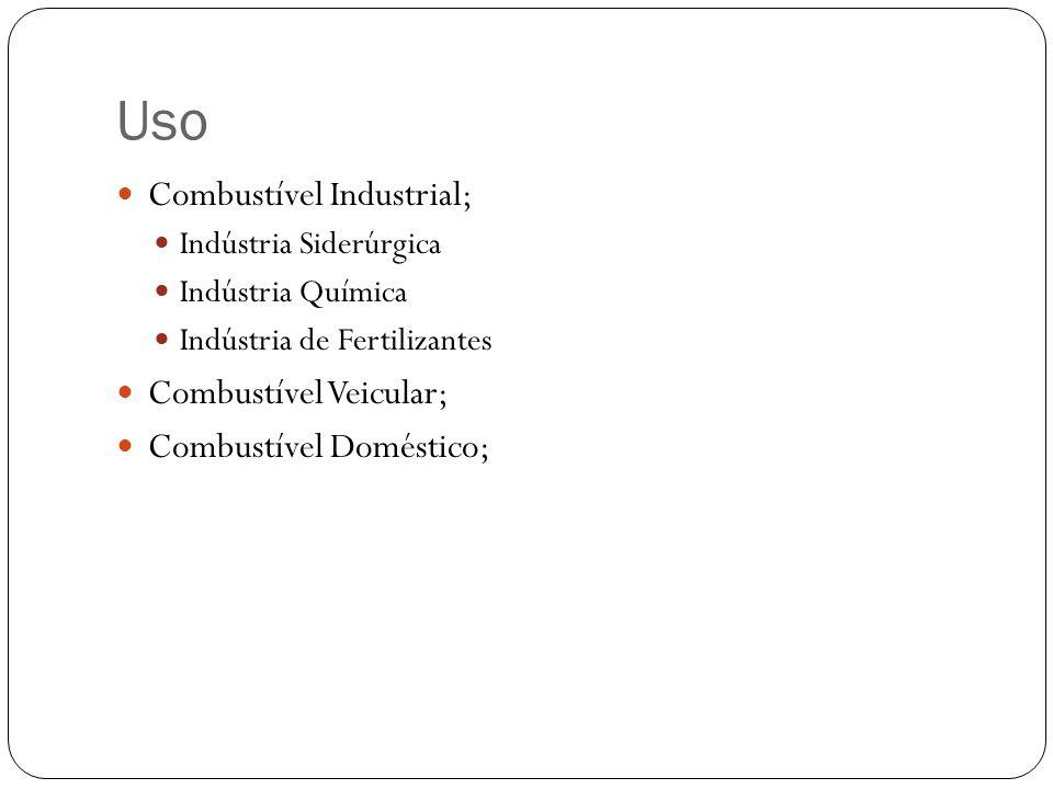 Uso Combustível Industrial; Combustível Veicular;