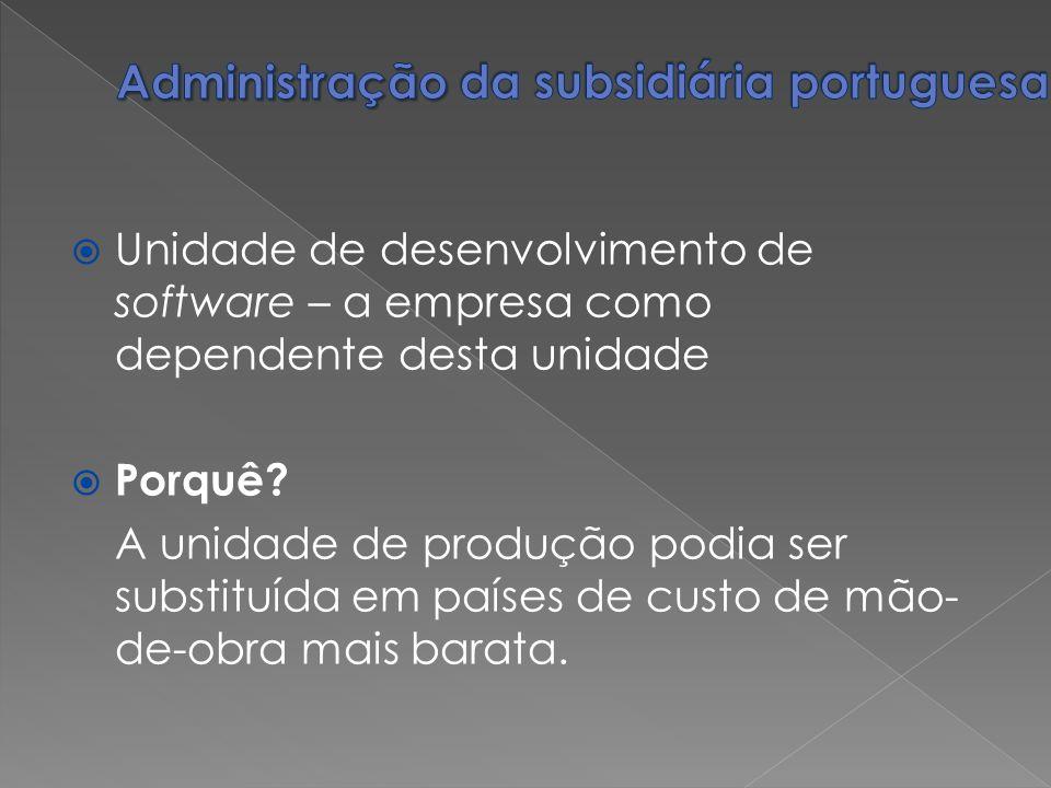 Administração da subsidiária portuguesa