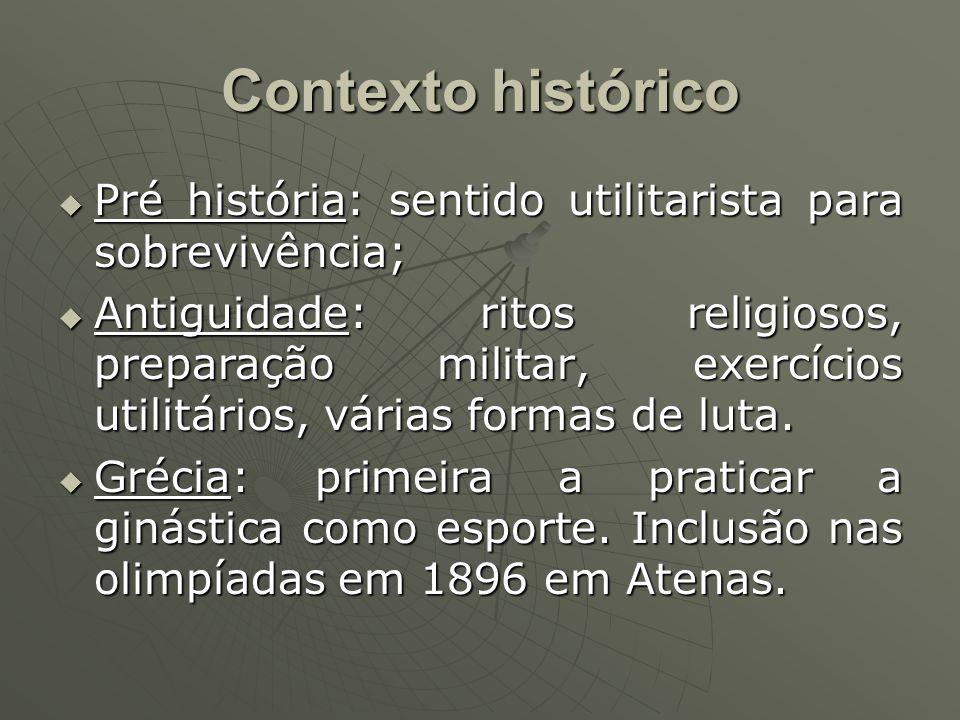 Contexto histórico Pré história: sentido utilitarista para sobrevivência;