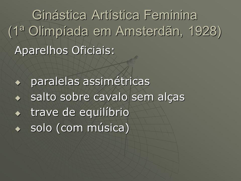 Ginástica Artística Feminina (1ª Olimpíada em Amsterdãn, 1928)