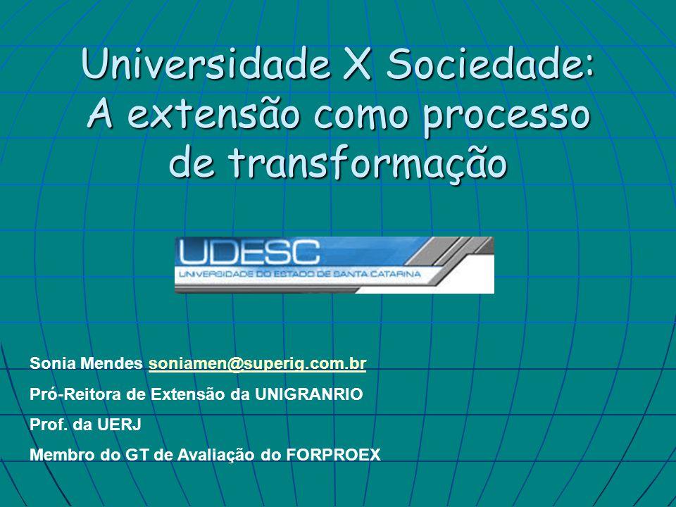 Universidade X Sociedade: A extensão como processo de transformação