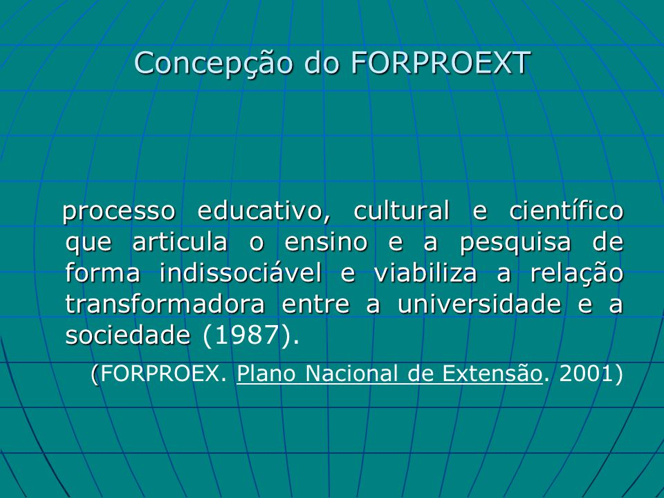 Concepção do FORPROEXT
