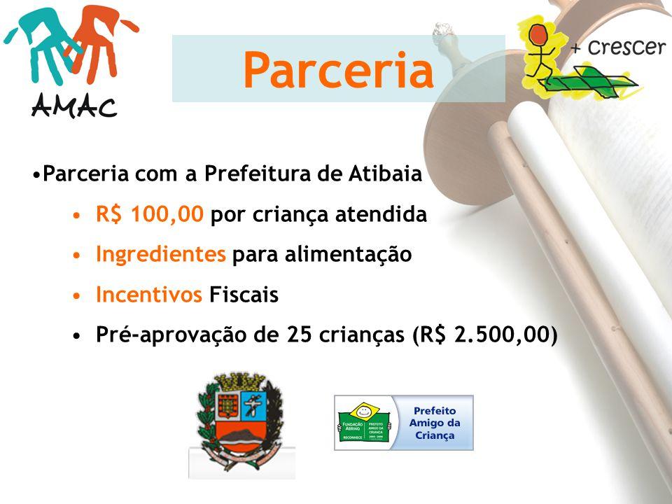 Parceria Parceria com a Prefeitura de Atibaia