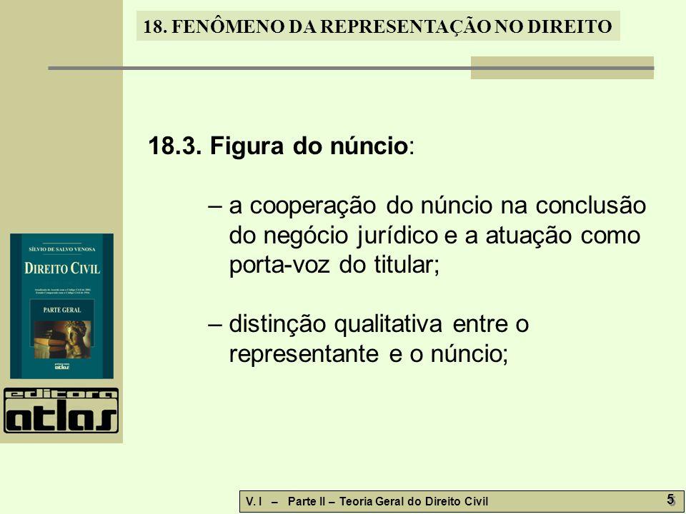 18.3. Figura do núncio: – a cooperação do núncio na conclusão do negócio jurídico e a atuação como porta-voz do titular;