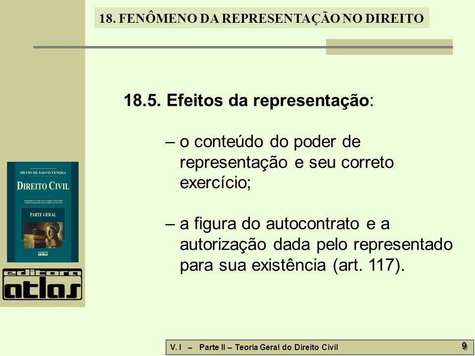 18.5. Efeitos da representação: