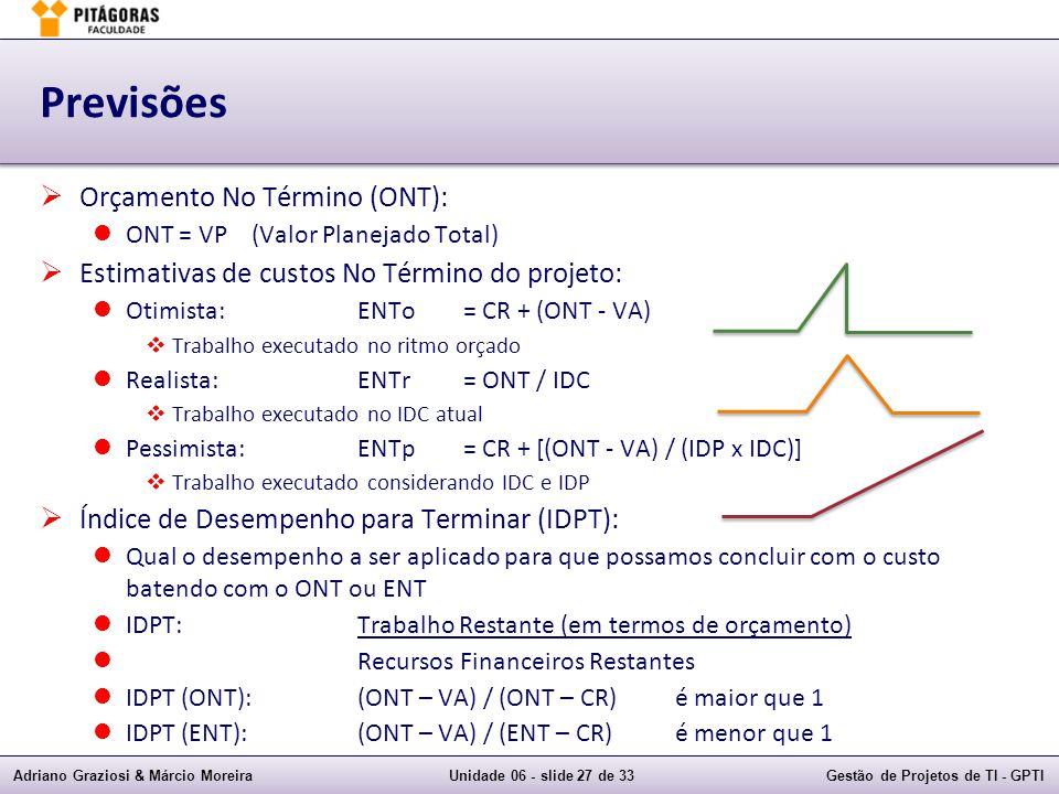 Previsões Orçamento No Término (ONT):