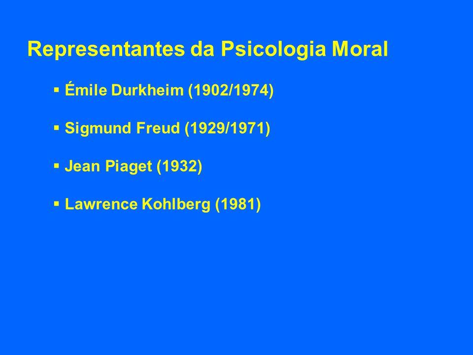 Representantes da Psicologia Moral
