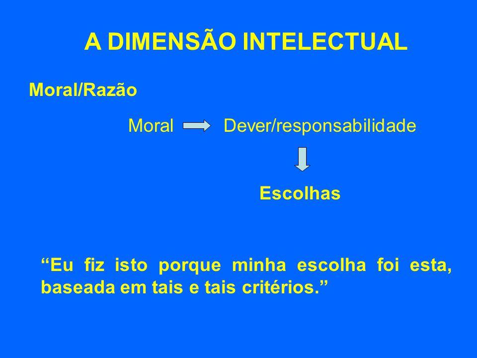 A DIMENSÃO INTELECTUAL
