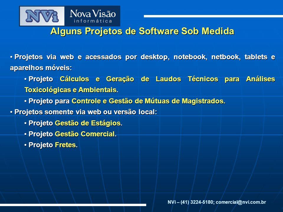 Alguns Projetos de Software Sob Medida