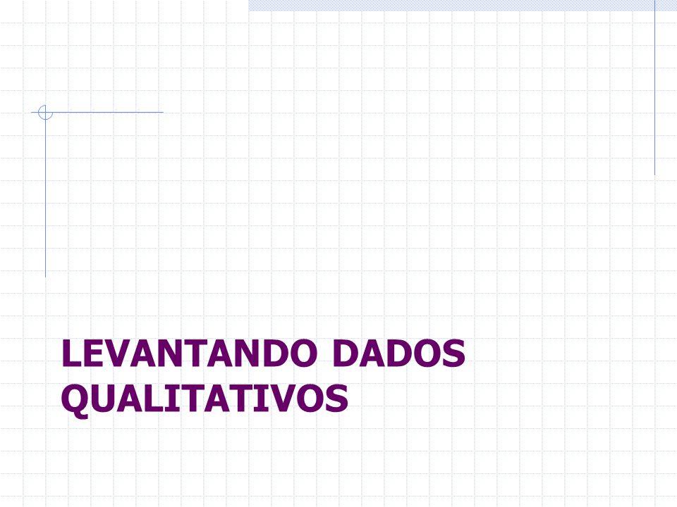 Levantando dados qualitativos