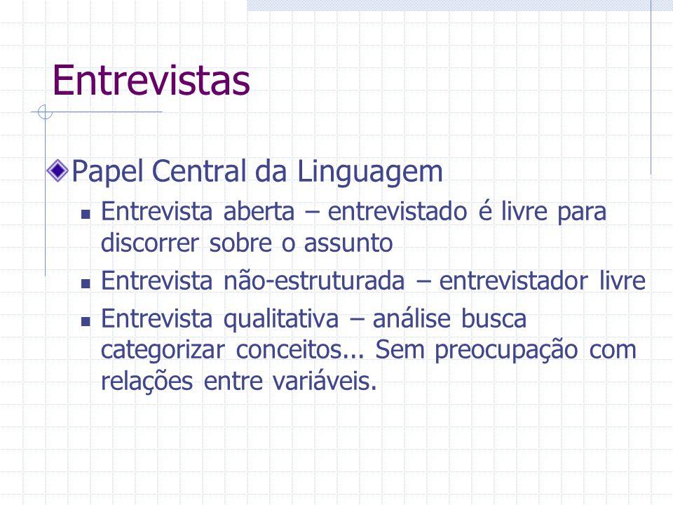 Entrevistas Papel Central da Linguagem