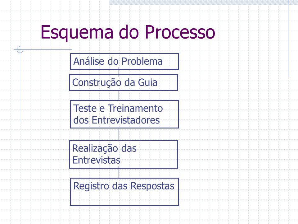 Esquema do Processo Análise do Problema Construção da Guia