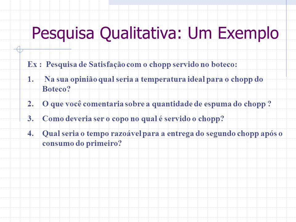Pesquisa Qualitativa: Um Exemplo
