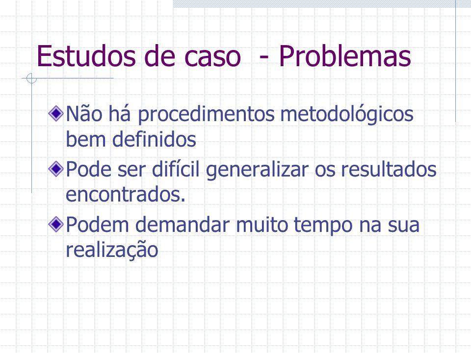 Estudos de caso - Problemas
