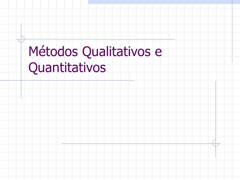 Métodos Qualitativos e Quantitativos