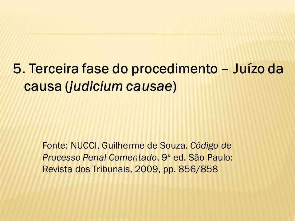 5. Terceira fase do procedimento – Juízo da causa (judicium causae)