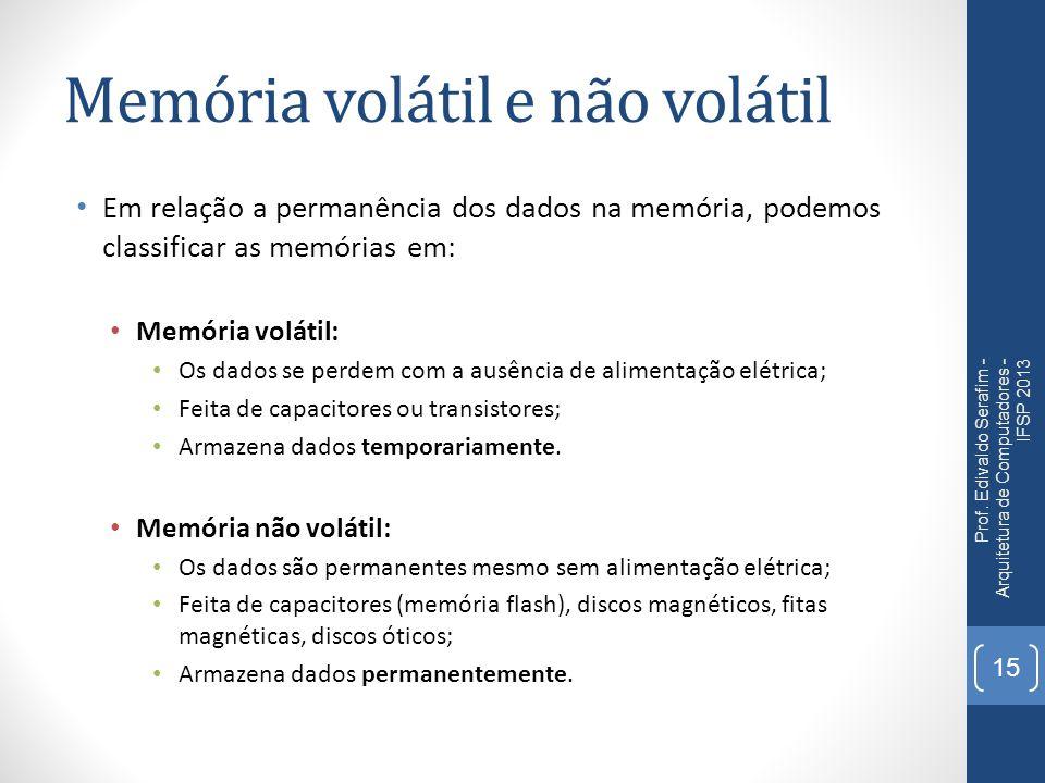 Memória volátil e não volátil