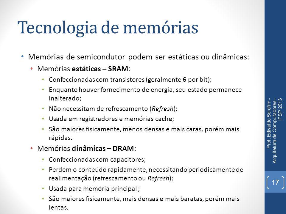 Tecnologia de memórias