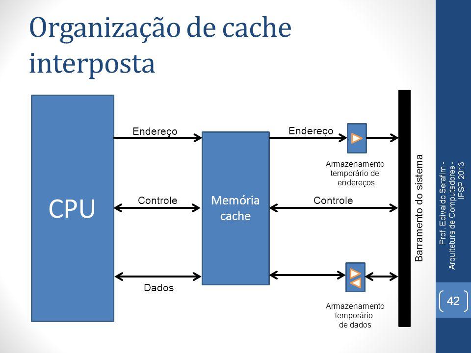 Organização de cache interposta