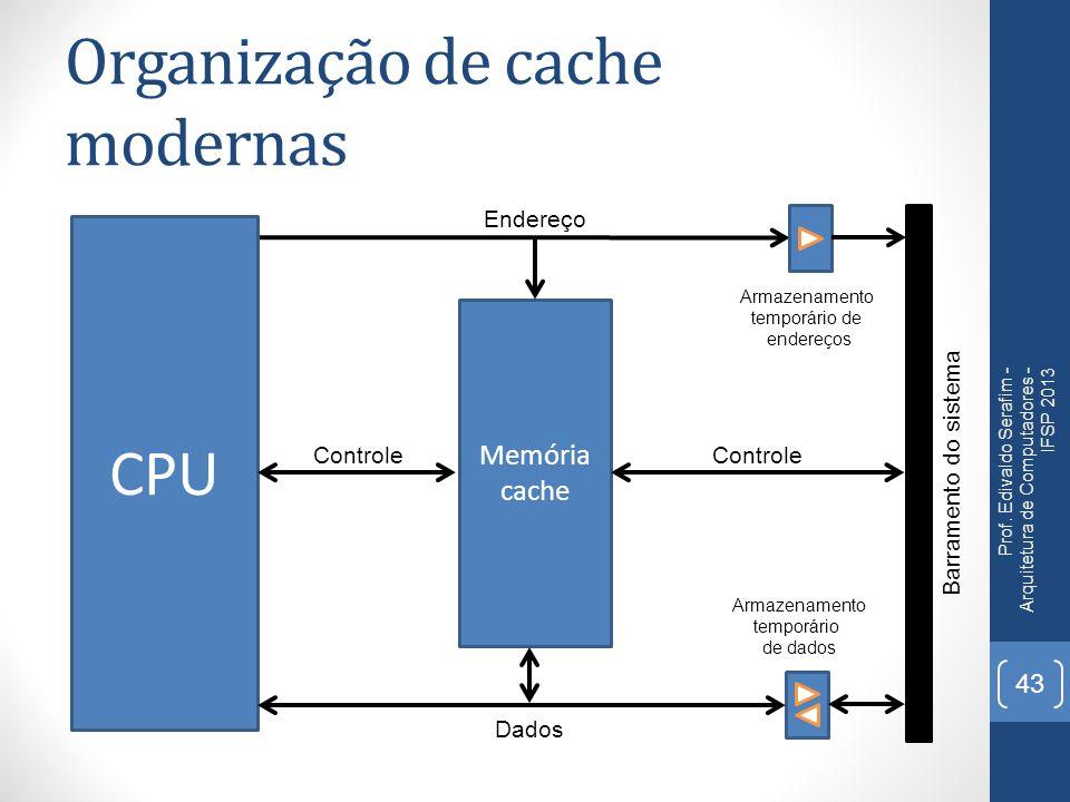 Organização de cache modernas