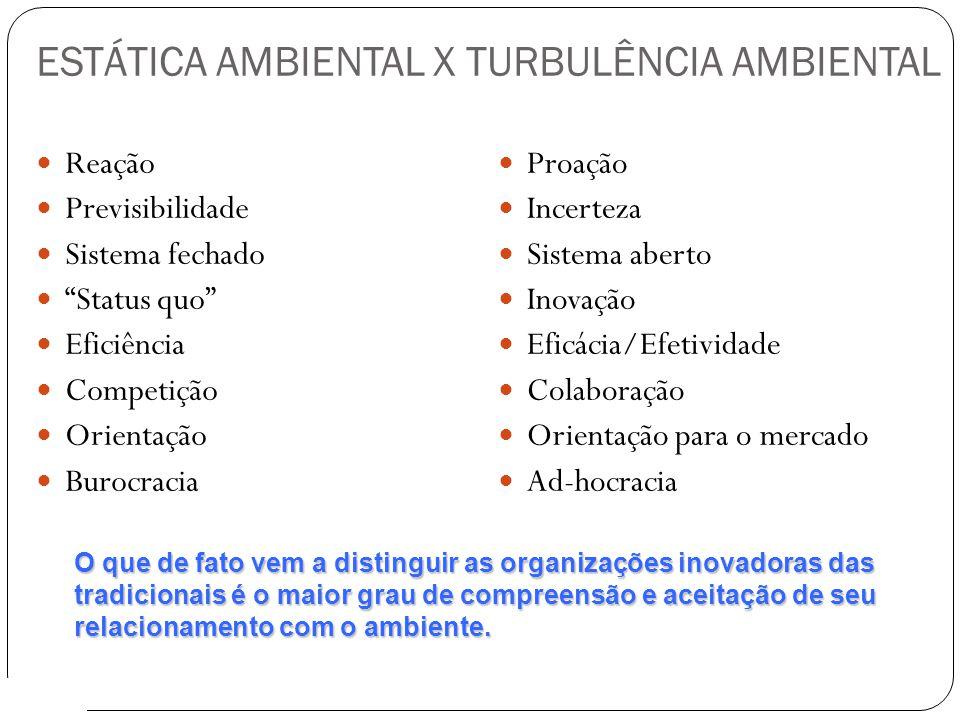 ESTÁTICA AMBIENTAL X TURBULÊNCIA AMBIENTAL
